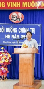 Đ/c Ngô Trọng Cảnh – Phó Bí thư Thường trực Huyện ủy