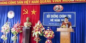 Đ/c Hồ Thị Đan Thùy – Phó Trưởng Ban Tuyên giáo Huyện ủy Đồng Xuân