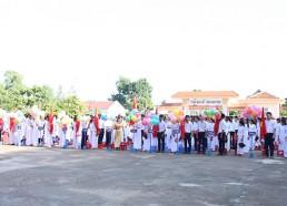 Học sinh tham dự lễ khai giảng năm học mới