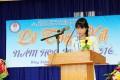 Em Nguyễn Thị Thùy Trang học sinh lớp 12A1 phát biểu cảm tưởng và những suy nghĩ của mình